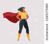 vector cartoon illustration of... | Shutterstock .eps vector #1285275484