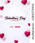 valentines day banner with...   Shutterstock .eps vector #1285275931
