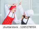 culinary battle of two chefs....   Shutterstock . vector #1285278934