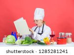 woman chef cooking healthy food....   Shutterstock . vector #1285281241