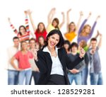 Group Of Happy Person. Isolated ...
