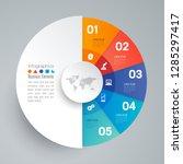 infographics design vector and... | Shutterstock .eps vector #1285297417