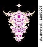 abstract fractal design looks... | Shutterstock . vector #12853003