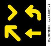 left icons set with upper left...   Shutterstock .eps vector #1285305421