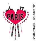 slogan paris for t shirt   Shutterstock . vector #1285305784