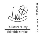 saint patrick's day linear icon.... | Shutterstock .eps vector #1285306834