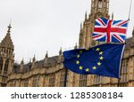 european union and british... | Shutterstock . vector #1285308184