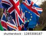 european union and british... | Shutterstock . vector #1285308187