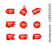 tags set with discount offer.... | Shutterstock .eps vector #1285310104