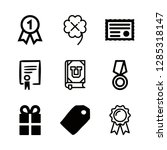 ribbon icons set with... | Shutterstock .eps vector #1285318147