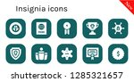 insignia icon set. 10 filled... | Shutterstock .eps vector #1285321657