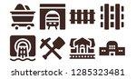 underground icon set. 8 filled ... | Shutterstock .eps vector #1285323481