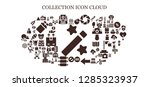 collection icon set. 93 filled ... | Shutterstock .eps vector #1285323937