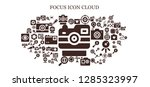 focus icon set. 93 filled... | Shutterstock .eps vector #1285323997