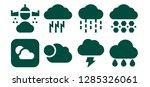 overcast icon set. 8 filled... | Shutterstock .eps vector #1285326061