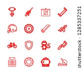 16 helmet icons with fighter... | Shutterstock .eps vector #1285337251