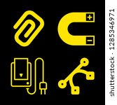 4 line icons with battery...   Shutterstock .eps vector #1285346971