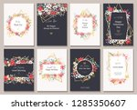 beautiful banners with flowers... | Shutterstock .eps vector #1285350607