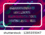 islamic calligraphy from the... | Shutterstock .eps vector #1285355047