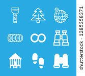 tourism icons set with... | Shutterstock .eps vector #1285358371