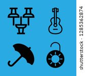 4 object icons with unlocked... | Shutterstock .eps vector #1285362874