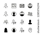 responsive icons set with...