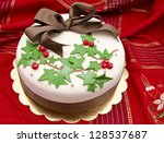 Christmas Cake Decorated With...