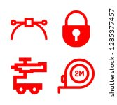 4 object icons with vector and... | Shutterstock .eps vector #1285377457
