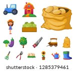 vector illustration of farm and ... | Shutterstock .eps vector #1285379461