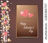 valentine's day card  coral... | Shutterstock .eps vector #1285383757