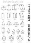 huge set of 3d geometric shapes.... | Shutterstock .eps vector #1285386187