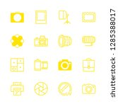 photograph icons set with... | Shutterstock .eps vector #1285388017