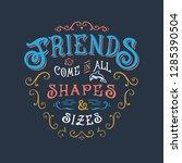 good quote motivation. hand... | Shutterstock .eps vector #1285390504