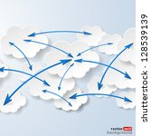 cloud computing and social... | Shutterstock .eps vector #128539139