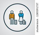passengers icon colored line... | Shutterstock .eps vector #1285391737