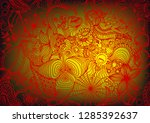hand drawn doodle backdrop...   Shutterstock .eps vector #1285392637