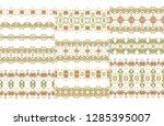set of ornamental vector... | Shutterstock .eps vector #1285395007