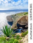 blue grotto  malta. natural... | Shutterstock . vector #1285396381