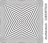 concentric lines square... | Shutterstock .eps vector #1285397014