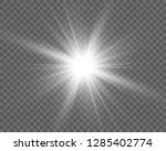 white beautiful light explodes... | Shutterstock .eps vector #1285402774