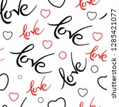 seamles pattern with valentines ... | Shutterstock .eps vector #1285421077