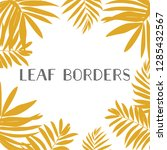 yellow leaf with frame leaf... | Shutterstock .eps vector #1285432567