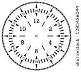 clock face for house  alarm ... | Shutterstock .eps vector #1285436044