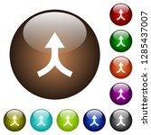 merge arrows up white icons on... | Shutterstock .eps vector #1285437007