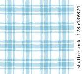 blue gingham seamless pattern.... | Shutterstock .eps vector #1285439824