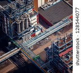 oil refinery | Shutterstock . vector #128544077