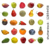 fruits collection isolated on... | Shutterstock . vector #12854458