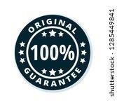 100  original guarantee label... | Shutterstock .eps vector #1285449841