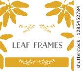 leaf frames border | Shutterstock .eps vector #1285452784