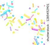 sprinkles grainy. sweet... | Shutterstock .eps vector #1285452901